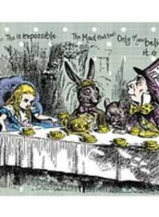 ohpopsi Alice in Wonderland Tea Party Wall Mural - XL 3.5m (W) x 2.8m (H)