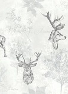 Arthouse Etched Stag Mono Wallpaper 10.05m x 53cm
