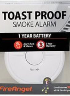 FireAngel Toast Proof Smoke Alarm 1 Year Battery