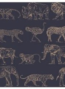 Boutique Safari Midnight Blue Wallpaper 10m