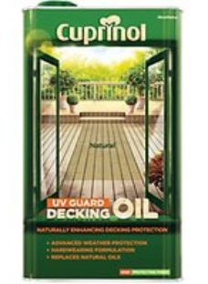 Cuprinol UV Guard Decking Oil can be used to penetrate into wood to replace natural oils and resins lost through weathering. Its tinted formula revitalises the colour of weathered wood.