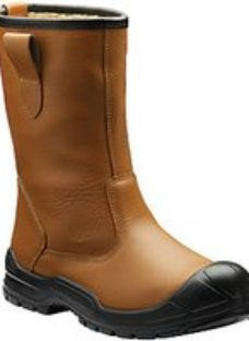 Dickies Dixon Lined Safety Rigger Boot - Tan Size 9