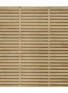Forest Garden Double Slatted Fence Panel 6 x 5 ft 5 Pack