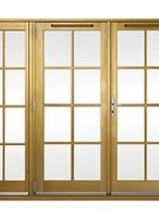 Wickes Albery Georgian Bar Solid Oak Laminate French Doors 8ft with 1 Side Lite 600mm
