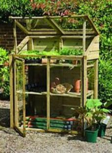 Forest Garden 2 x 4 ft Small Wooden Lean-To Greenhouse