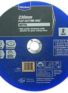 Wickes Metal Flat Cutting Disc 230mm - Pack of 2