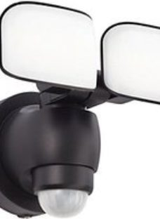 Omega Battery Security Light Black abs plastic & frosted pc