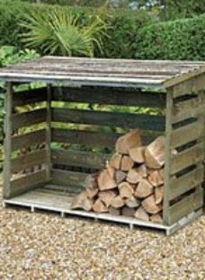 Forest Garden 6 x 3ft Timber Pressure Treated Log Store