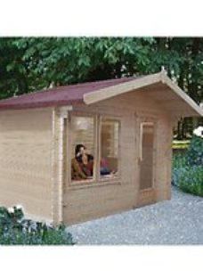 Shire Challock 12 x 8ft Log Cabin including Overhang