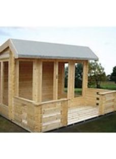 Shire Wykenham 12 x 14ft Double Door Log Cabin