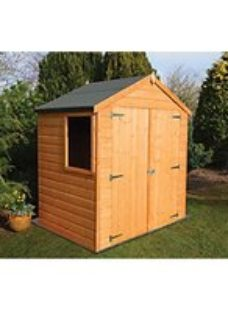 Shire 6 x 4ft Double Door Timber Shiplap Apex Shed