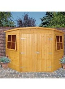 Shire 7 x 7ft Double Door Timber Corner Shed
