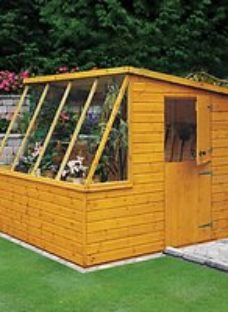 Wickes 8 x 8ft Pent Potting Shed with Stable Door
