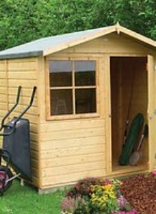 Shire 7 x 7ft Abri Decorative Garden Shed with Overhang