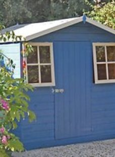 Shire 7 x 7ft Casita Decorative Shed with Overhang & Opening Windows
