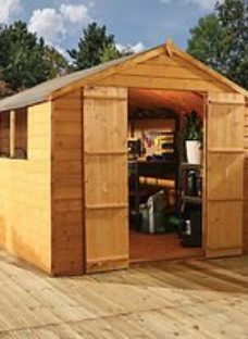 Mercia 7 x 7ft Timber Shiplap Apex Shed with Assembly