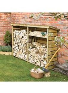 Rowlinson 8 x 2ft Timber Large Log Store
