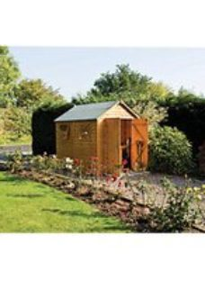 Rowlinson Premier 10 x 8ft Large Double Door Apex Shed with 3 Windows