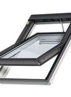 VELUX INTEGRA White Painted Electric Centre Pivot Roof Window - 1340 x 1400mm