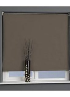 Universal Plain Blackout Roller Blind - Chocolate 600mm