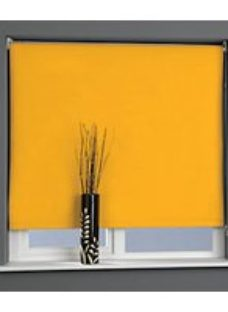 Universal Plain Blackout Roller Blind - Citrus Zest 1200mm