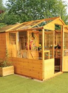 Mercia 10 x 6 ft Traditional Apex Greenhouse Combi Shed