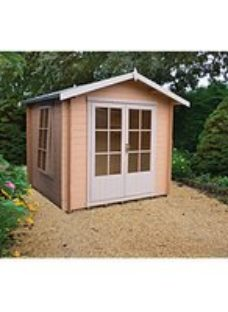 Shire 7 x 7 ft Barnsdale Double Door Log Cabin