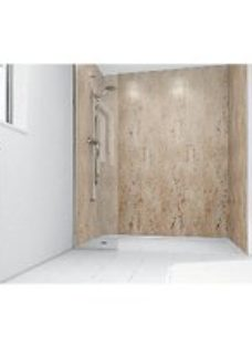 Mermaid Brushed Nickel Laminate 2 Sided Shower Panel Kit 1700mm x 900mm