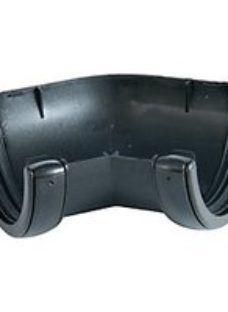 FloPlast 112mm Cast Iron Style Round Line Gutter Angle 135° - Black