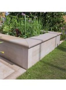 Marshalls Fairstone Sawn Versuro Smooth Coping Stone - Antique Silver 500 x 136 x 50mm Pack of 50