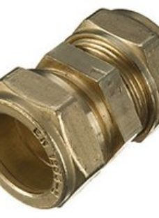 Wickes Brass Compression Straight Coupling - 28mm