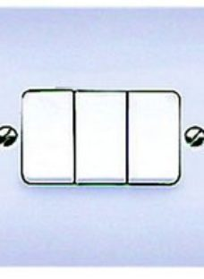 MK 10A Light Switch 3 Gang 2 Way K4873PPK