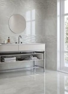 Boutique Bukan Silver Structure Ceramic Wall Tile 600 x 300mm