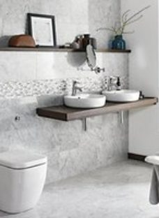 Boutique Carrara Polished Marble Wall & Floor Tile 610 x 305mm