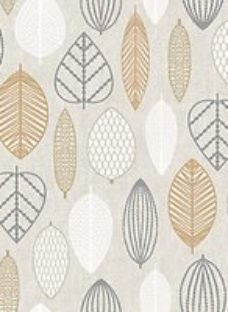 Superfresco Easy Copper Scandi Leaf Wallpaper - 10m