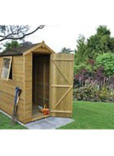 Forest Garden 6 x 4 ft Apex Tongue & Groove Pressure Treated Shed