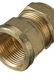 Primaflow Brass Female Iron Straight Coupling - 3/4in X 22mm