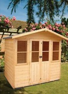 Shire Haddon 7 x 5ft Double Door Apex Dip Treated Summer House