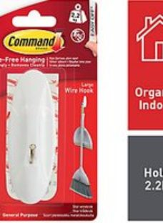 Command White Large Wire Hook