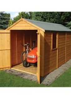 Shire 12 x 6ft Large Double Door Tongue & Groove Shed