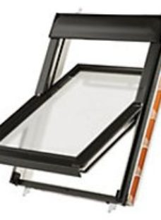 Keylite White Painted Timber Centre Pivot Roof Window With Thermal Frosted Glazing - 780 X 1400mm