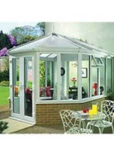 Wickes Victorian Dwarf Wall White Conservatory - 12 x 9 ft