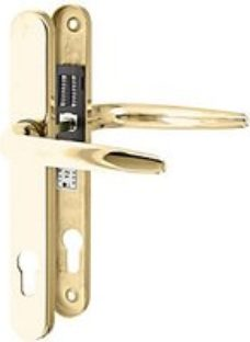 Yale Essentials Long Backplate Door Handle - Polished Gold