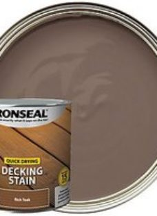 Ronseal Rich Teak Quick Drying Decking Stain - 2.5L