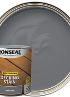Ronseal Rocky Grey Quick Drying Decking Stain - 2.5L