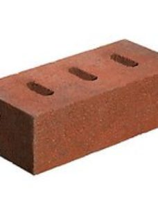 Marshalls Red/Black Portmore Claret Perforated Facing Brick - 215 x 100 x 65mm - Pack of 416