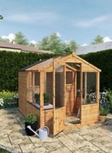 Mercia 8 x 6ft Traditional Apex Greenhouse Combi Shed