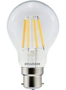 Sylvania LED GLS Clear Filament Dimmable Warm White B22 Cap Fitting 806LM