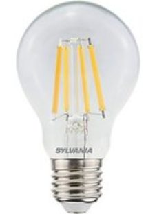 Sylvania LED Gls Clear Filament Dimmable Warm White E27 Cap Fitting 806LM