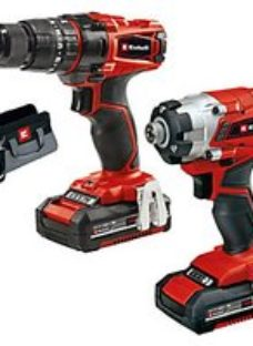 Einhell Power X-Change 18V Cordless 2 x 2.0Ah Combi Drill & Impact Driver Twin Pack